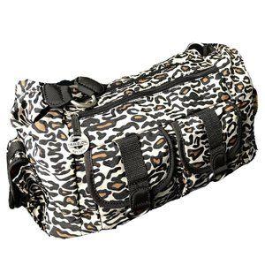 Travelon Cheetah Leopard MultiEntry Shoulder Bag